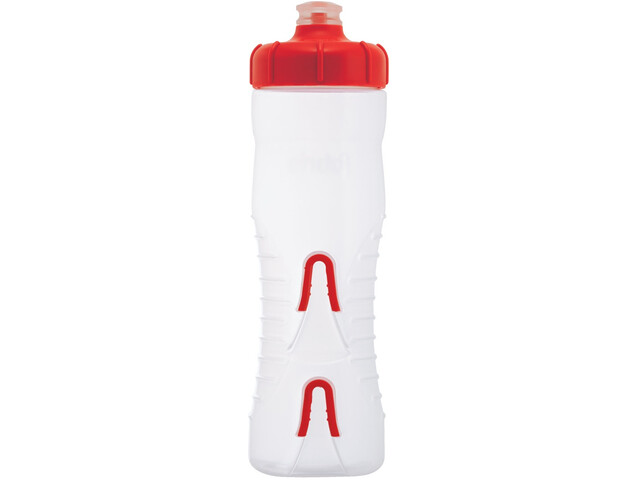 Fabric Cageless Bidon 750ml, clear/red